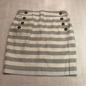 LOFT striped sailor pencil skirt